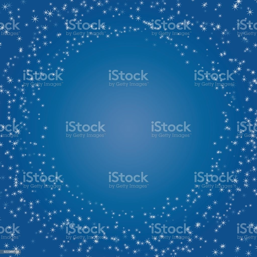 concept of card starry sky space blue vector art illustration