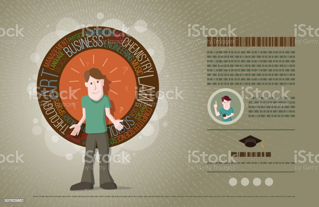 Concept of choice of future vector art illustration