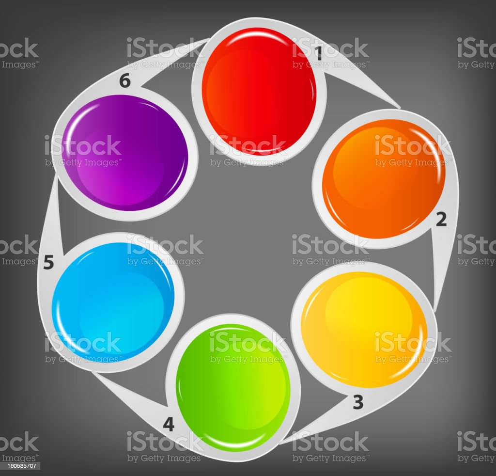 Concept of colorful circular banners  for  business design. royalty-free stock vector art
