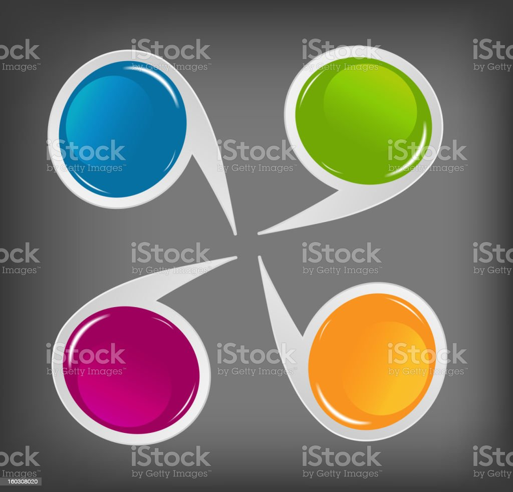 Concept of colorful circular banners royalty-free stock vector art