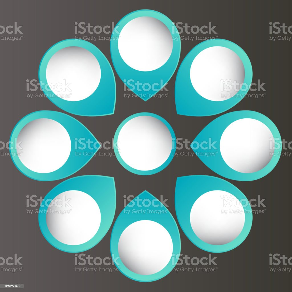 Concept of colorful circular banners with arrows royalty-free stock vector art