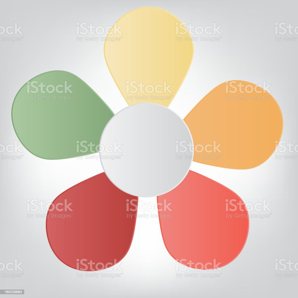 Concept of colorful flower for different business design. Vector illustration royalty-free stock vector art