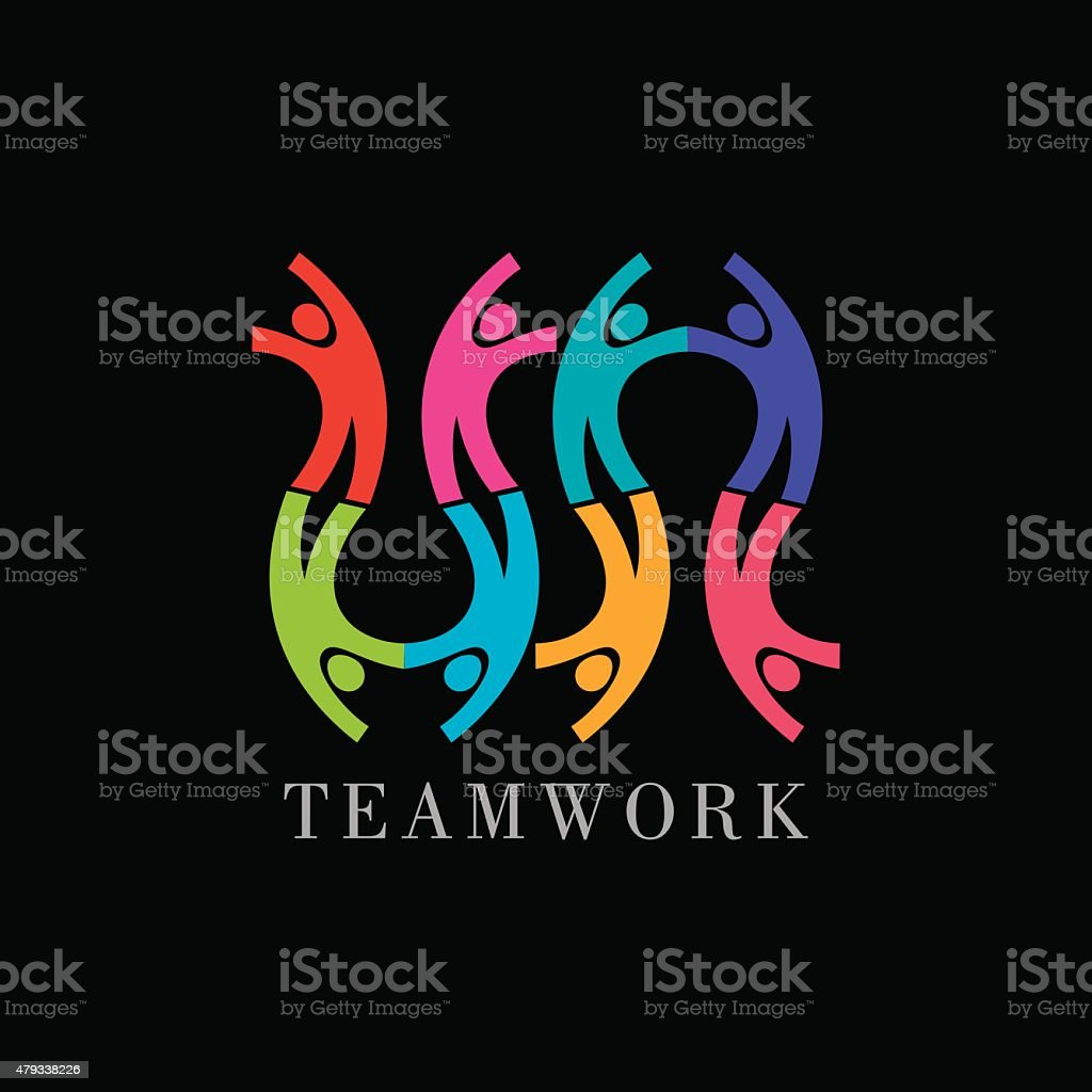 Concept of community,workers,unity,social networking icon image vector art illustration