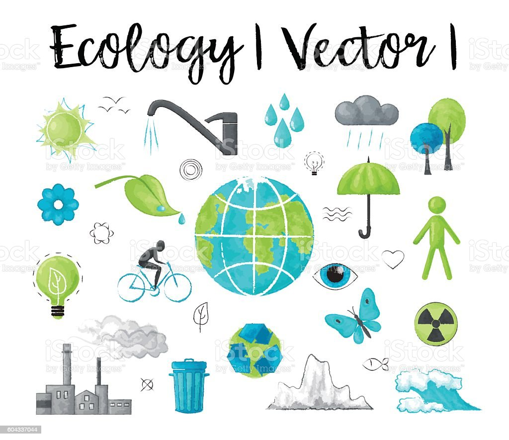 Concept of ecology and saving earth environment problem vector art illustration