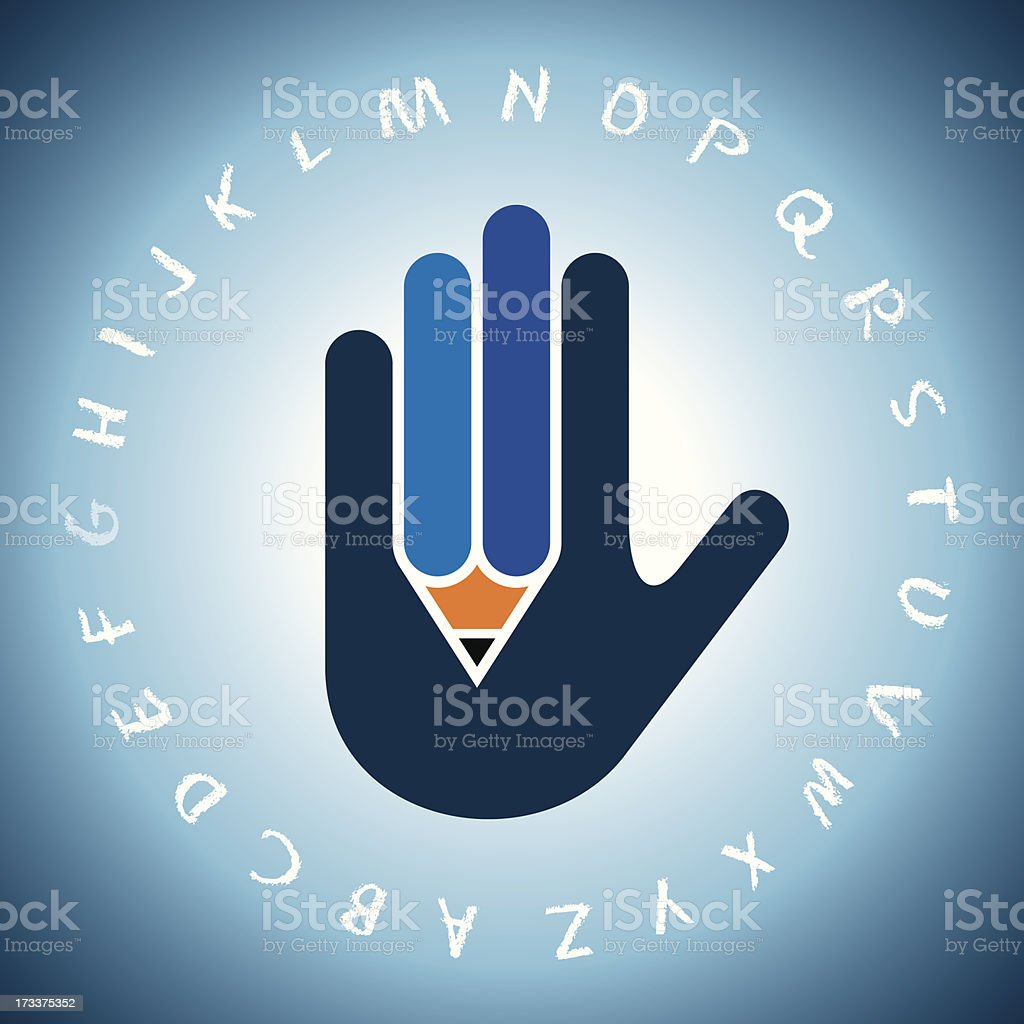 concept of education vector art illustration