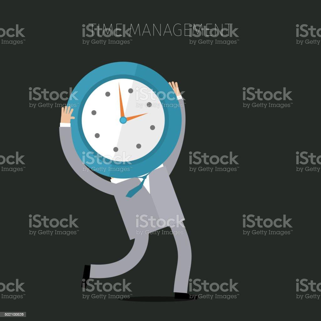 Concept of effective time management vector art illustration