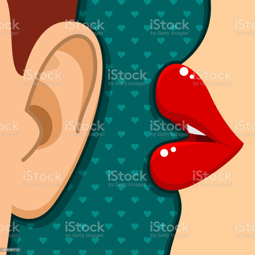 Concept of gossip vector art illustration