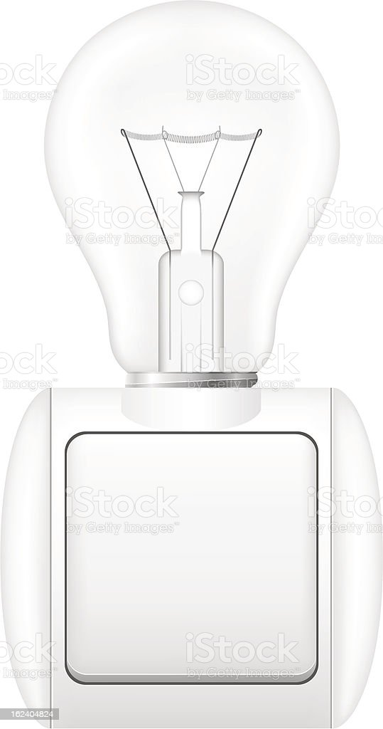 concept of light bulb with a switch vector illustration royalty-free stock vector art