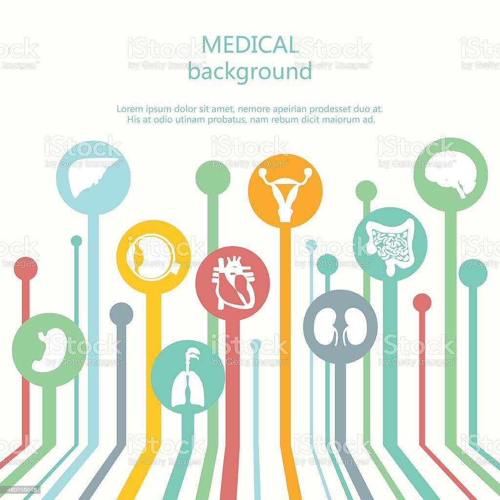Concept of medical background. Human anatomy. vector art illustration