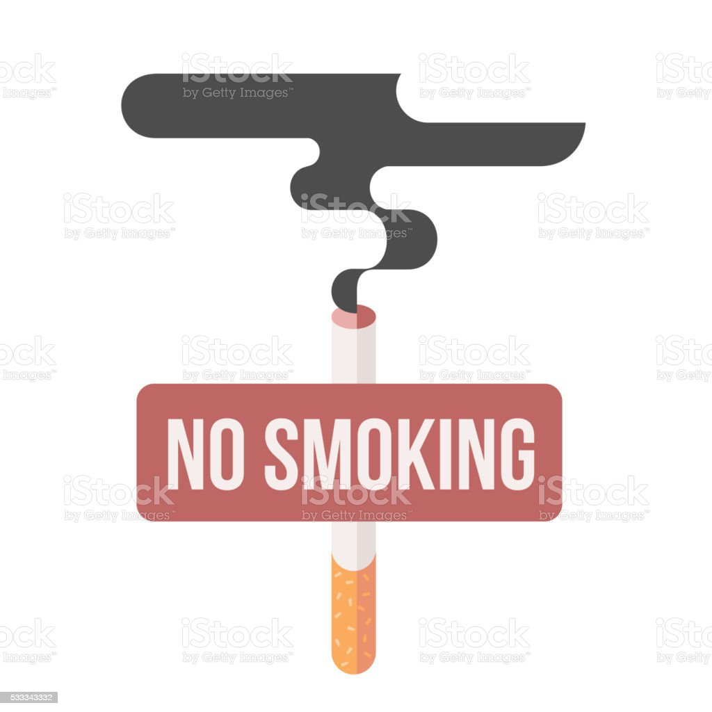 concept of nicotine consumption, smoking pregnant vector art illustration