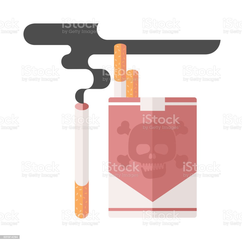 concept of nicotine consumption vector art illustration