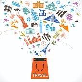 Concept of travel shop