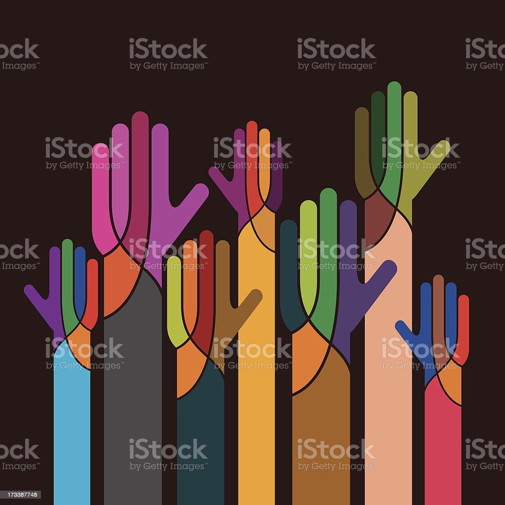 concept of unity vector art illustration