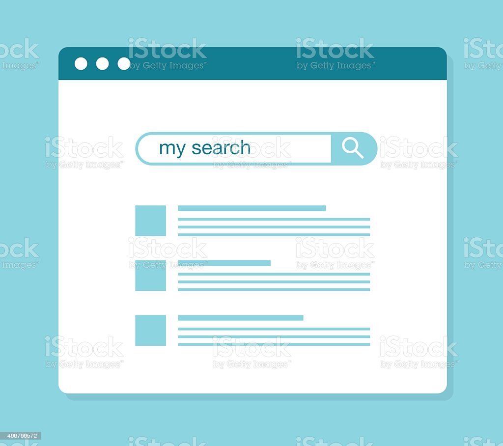 concept of using web search vector art illustration
