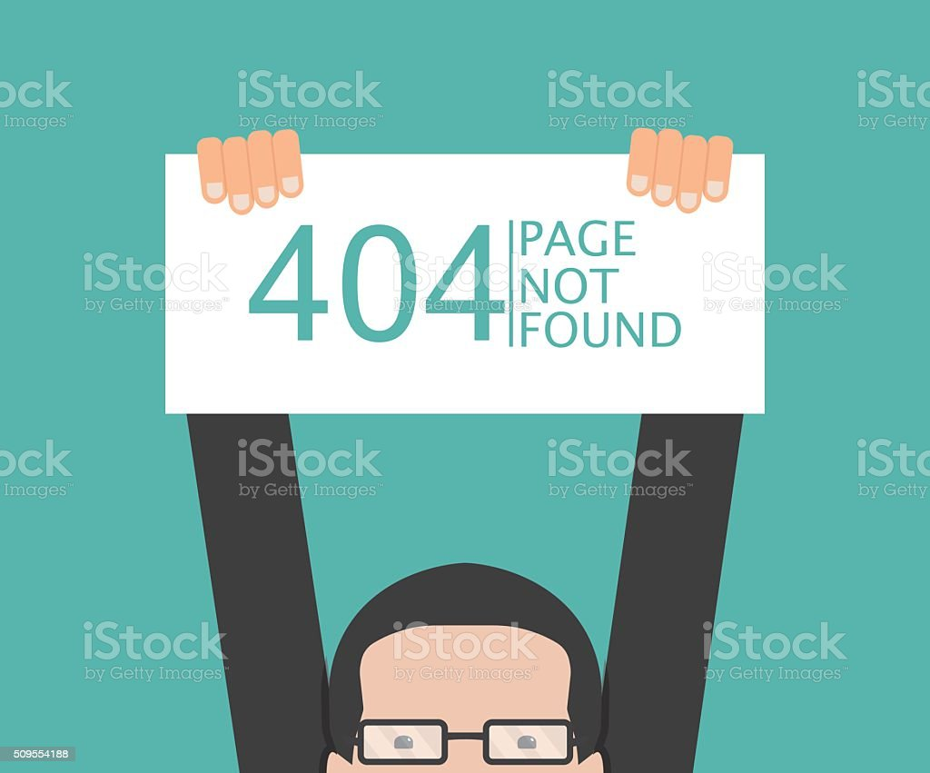 Concept page 404. simple design vector art illustration