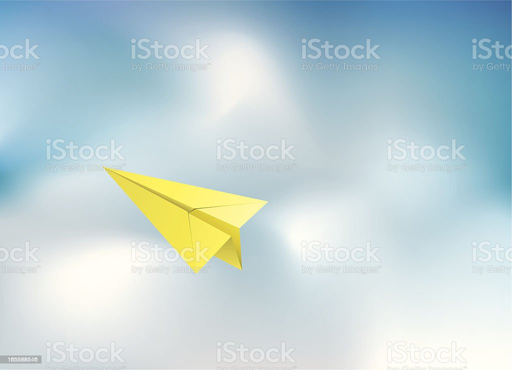 Concept - Paper Plane royalty-free stock vector art