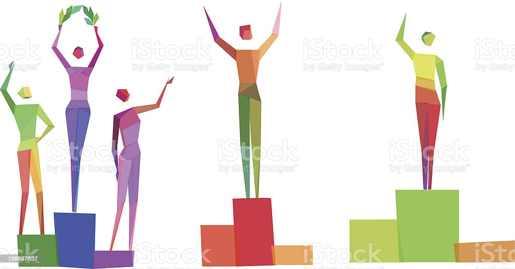 Concept polygonal people royalty-free stock vector art