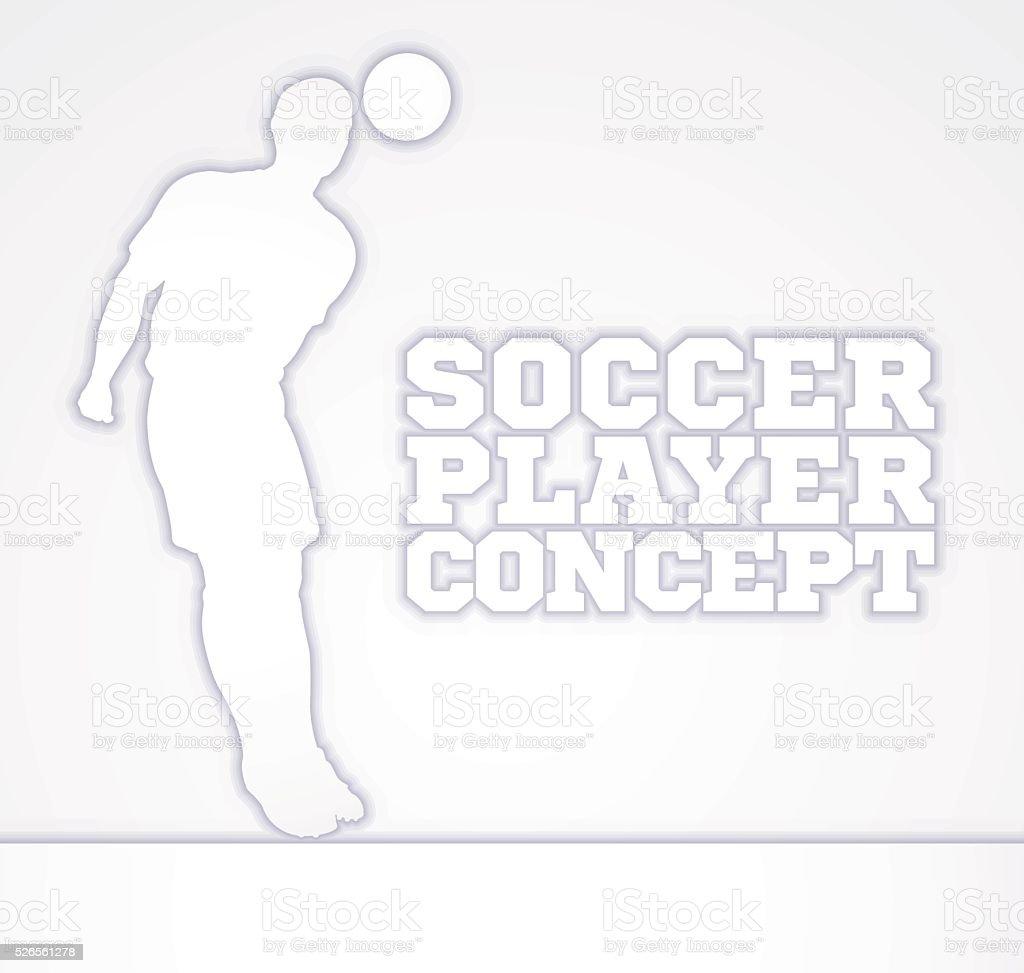 Concept Silhouette Soccer Player vector art illustration