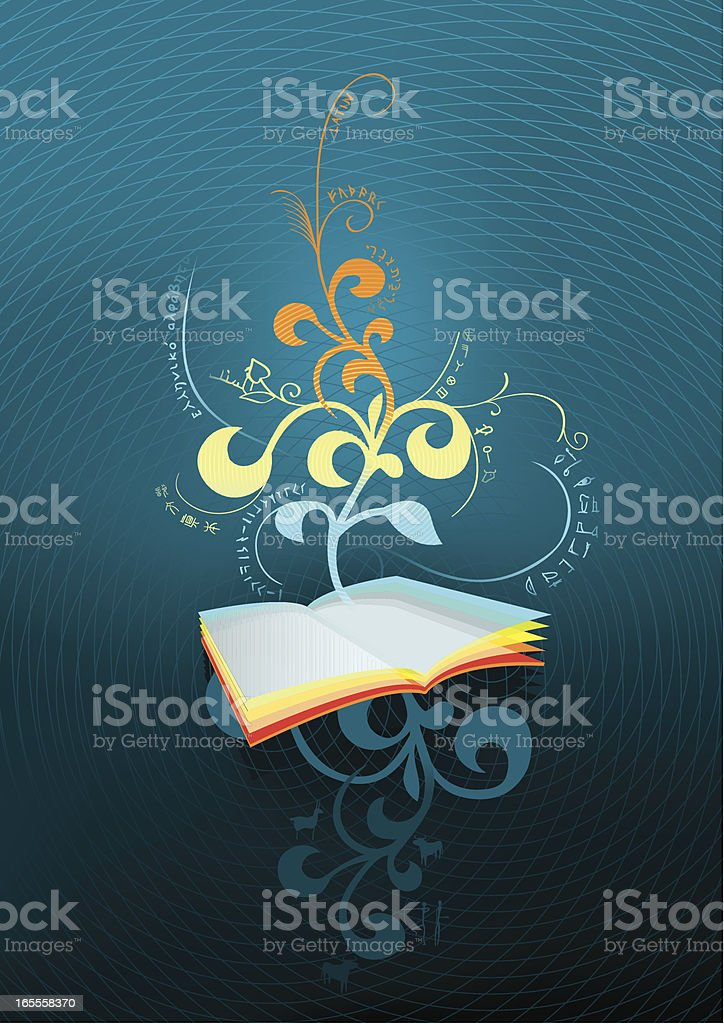 Concept vector illustration History book. royalty-free stock vector art