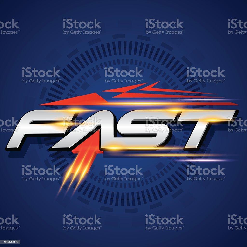 FAST concept vector vector art illustration
