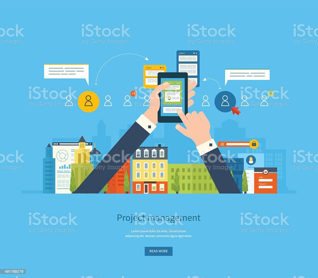 Concepts for business planning, consulting, teamwork, project management and development vector art illustration