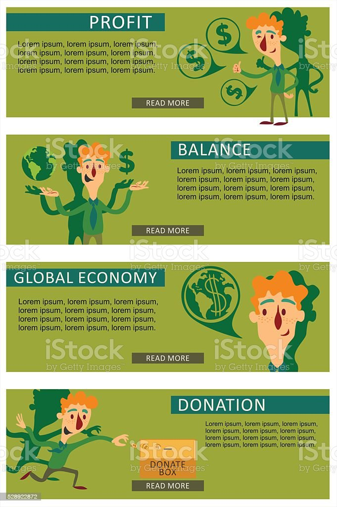 Concepts for finance and stock market investing making money profit vector art illustration