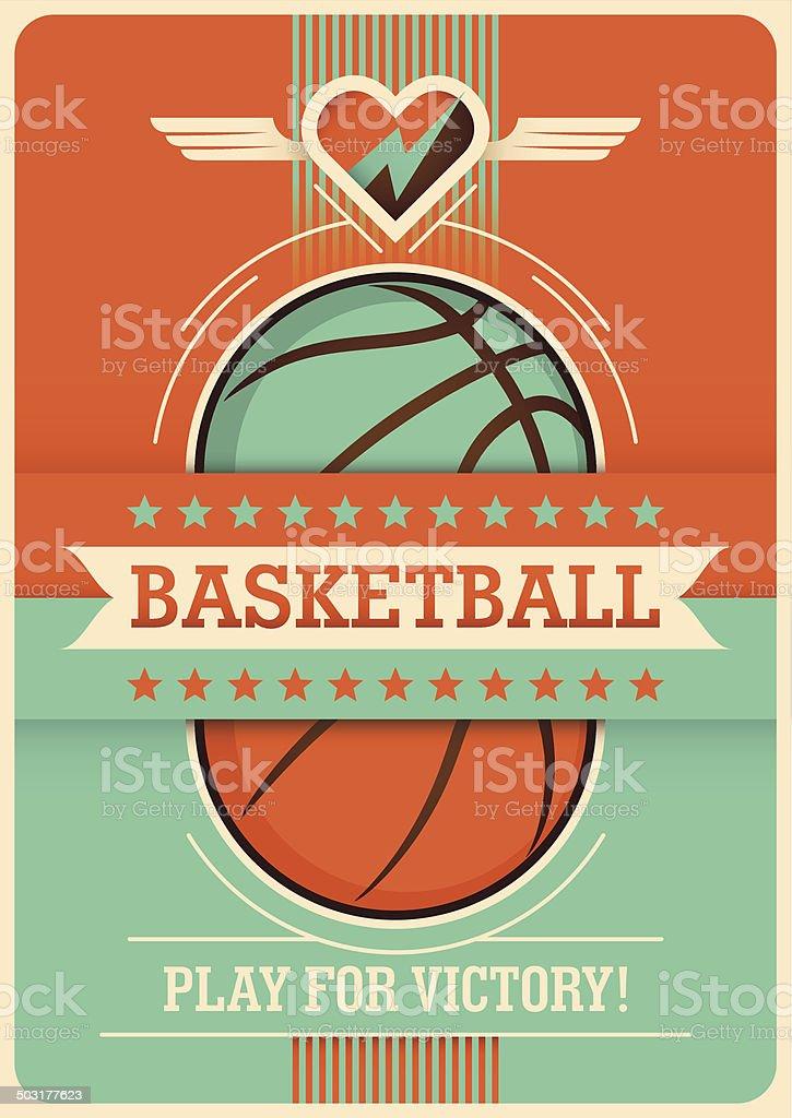Conceptual basketball poster design. vector art illustration
