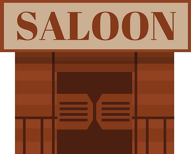 Porte battante vecteurs et illustrations libres de droits - Dessin saloon ...