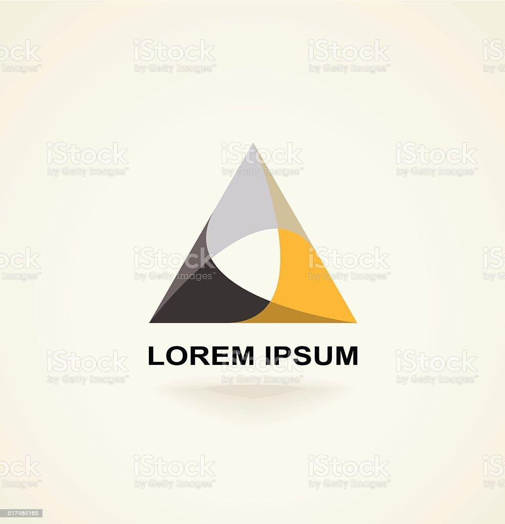 Conceptual creative technology vector abstract triangle icon template logo vector art illustration
