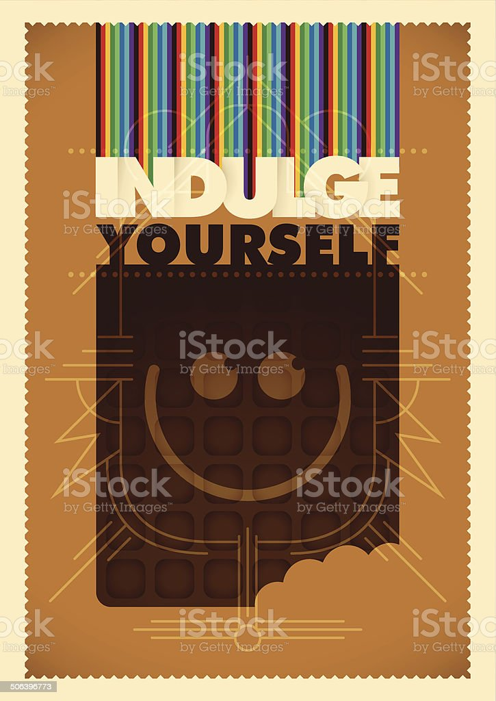 Conceptual illustration with chocolate. royalty-free stock vector art