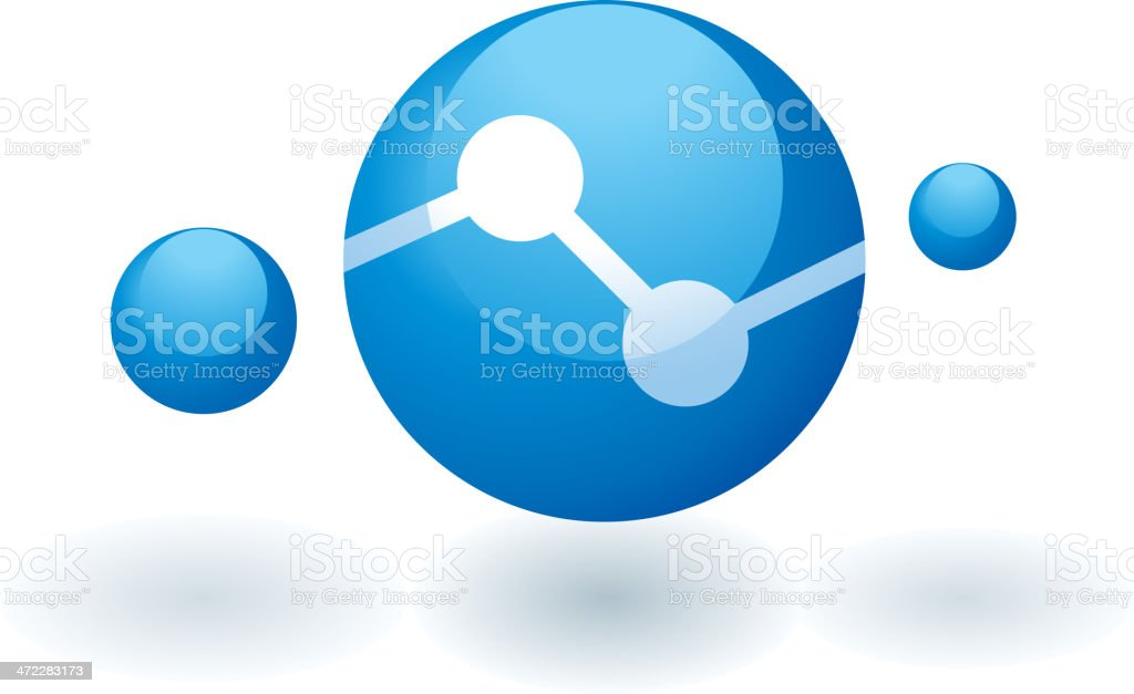 Conceptual logo of a global communication network royalty-free stock vector art