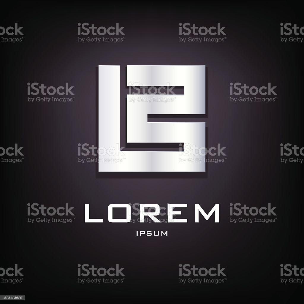 Conceptual sign of letter B logo design template vector art illustration