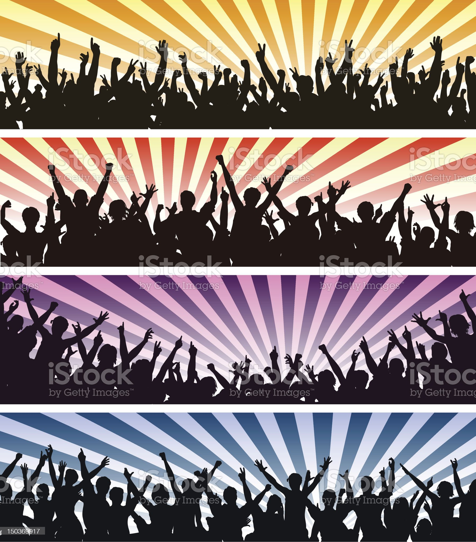 Concert crowds royalty-free stock vector art