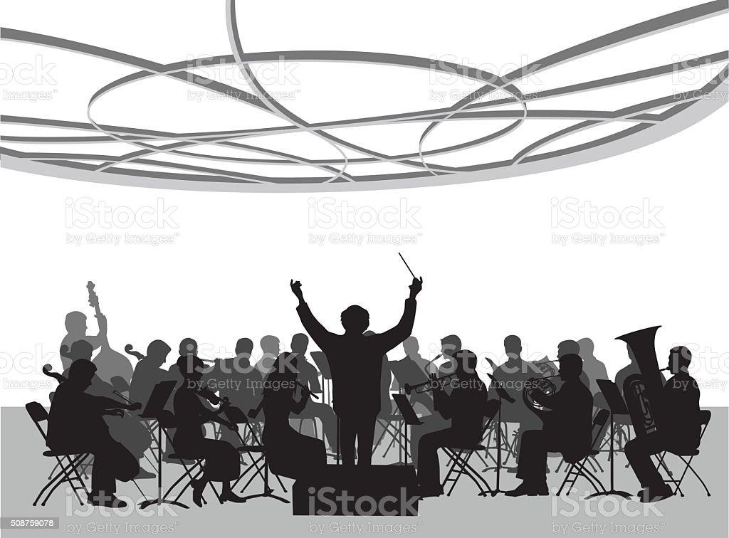 Concert Hall Orchestra Illustration vector art illustration