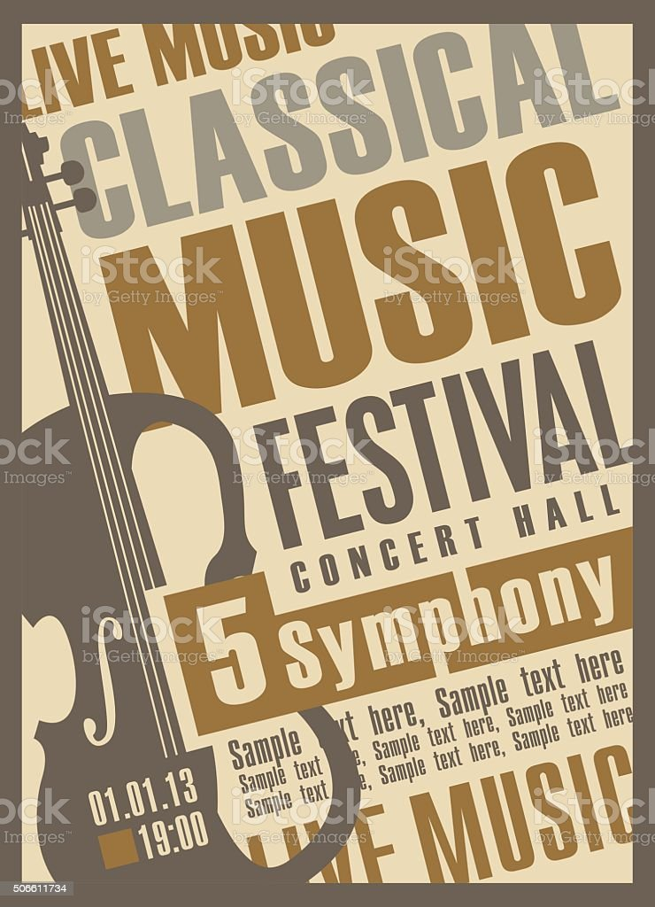 concert of classical music vector art illustration
