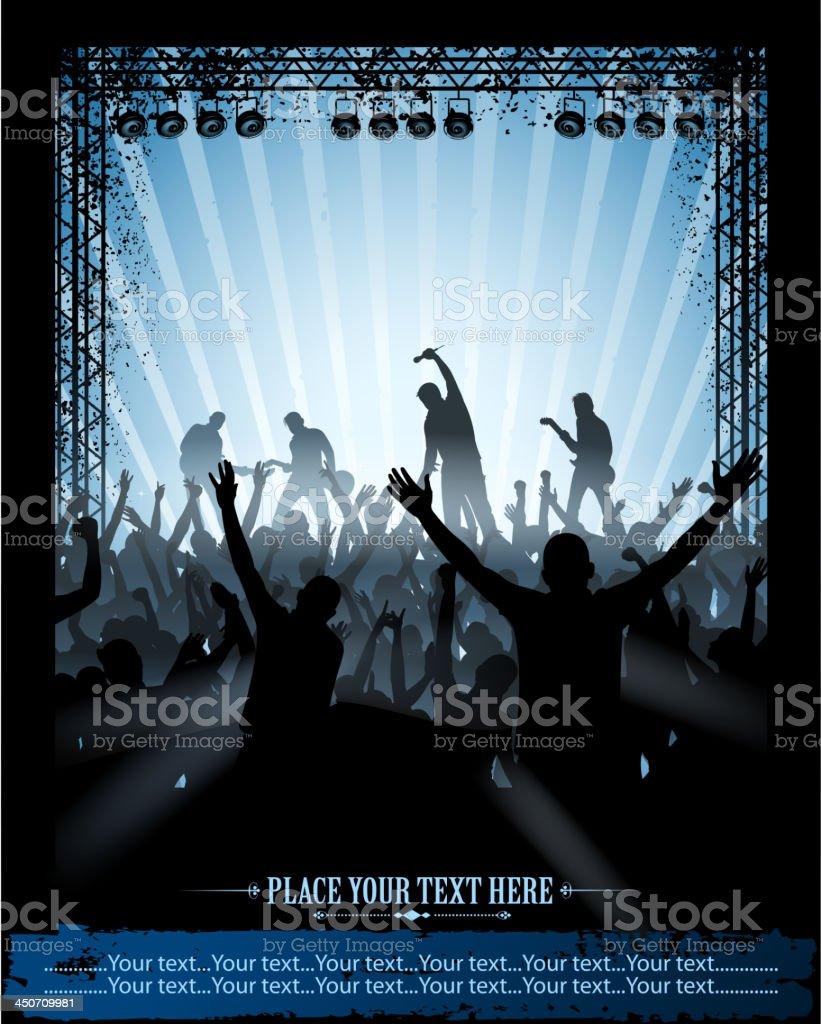 concert placard vector art illustration
