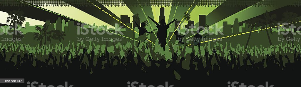 Concert vector art illustration