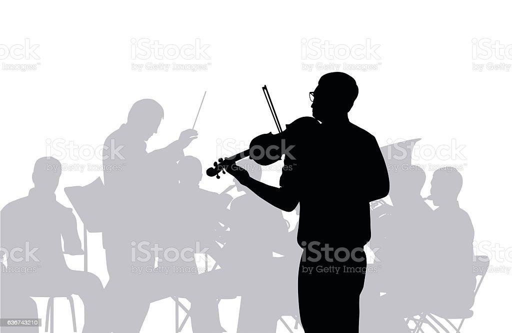 Concerto vector art illustration