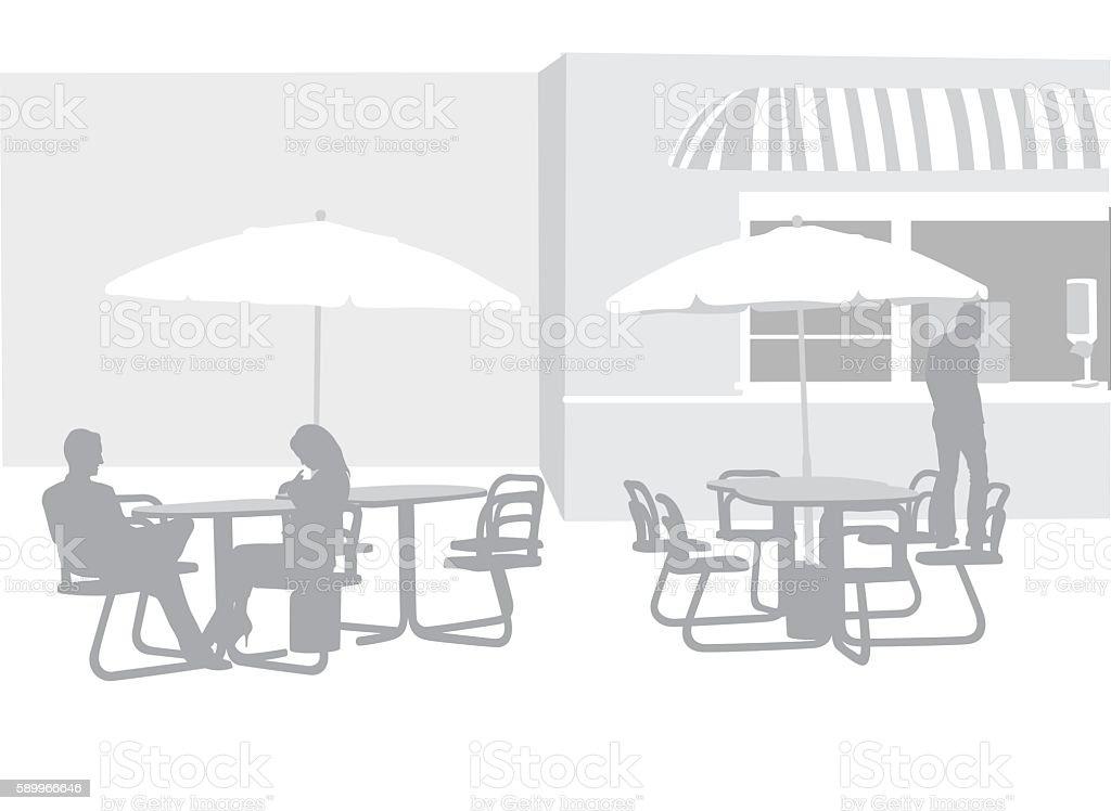 Concession Background vector art illustration