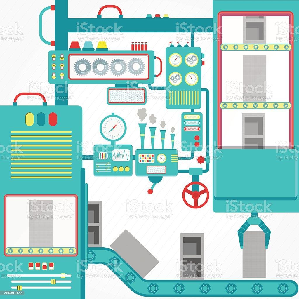 Concrete block industry vector art illustration