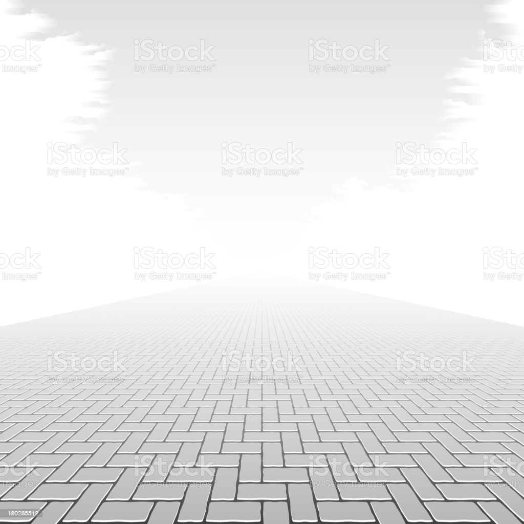 Concrete block pavement vector art illustration