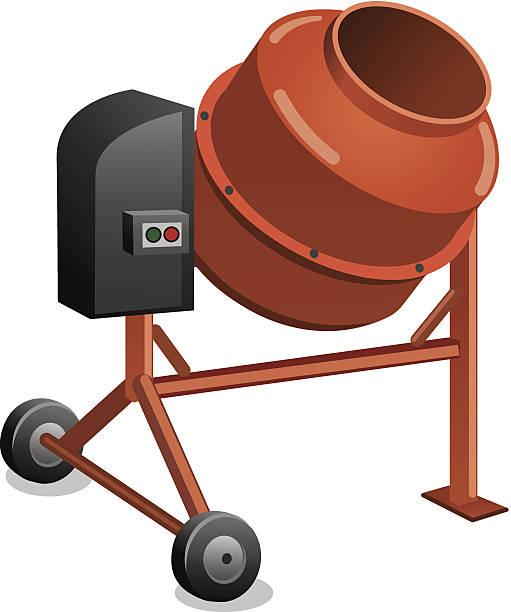 Masonry Business Clip Art : Cement mixer clip art vector images illustrations istock