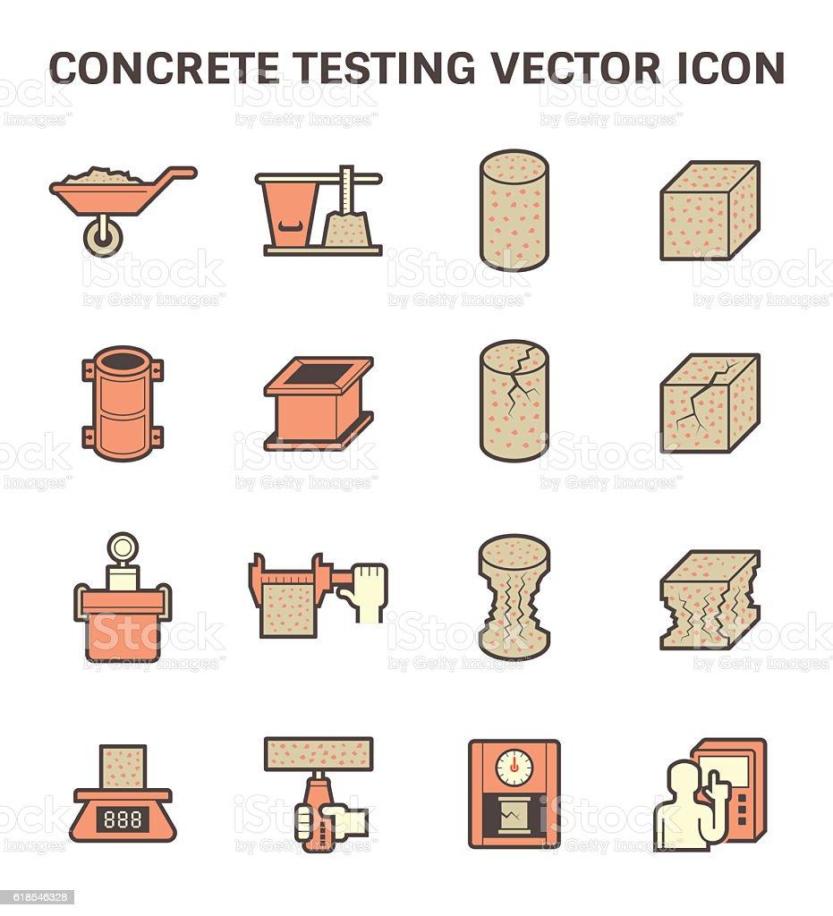 Concrete testing icon vector art illustration