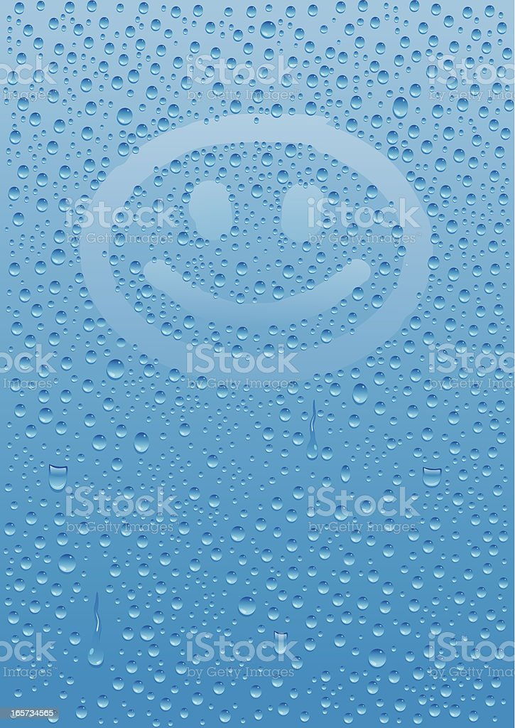 Condensation with Smiley Face vector art illustration