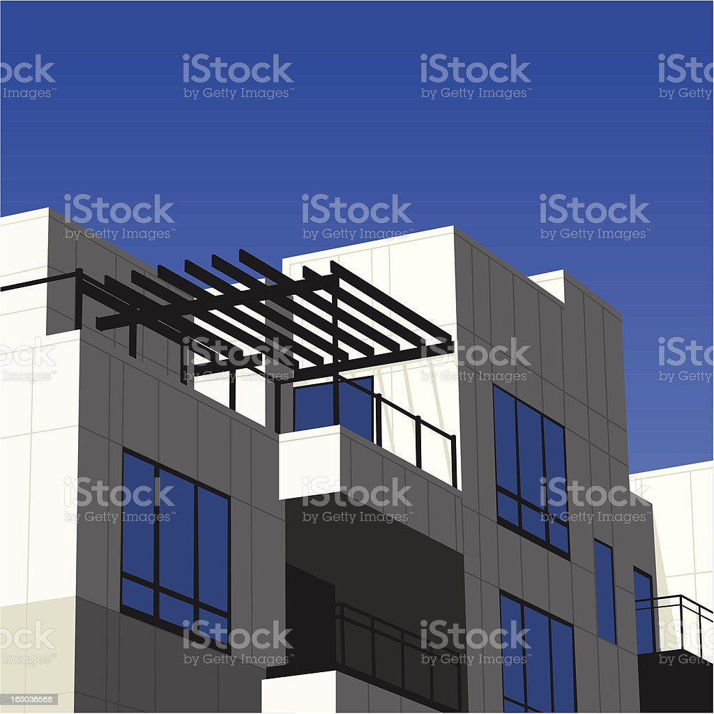Condo Detail (Vector) royalty-free stock vector art