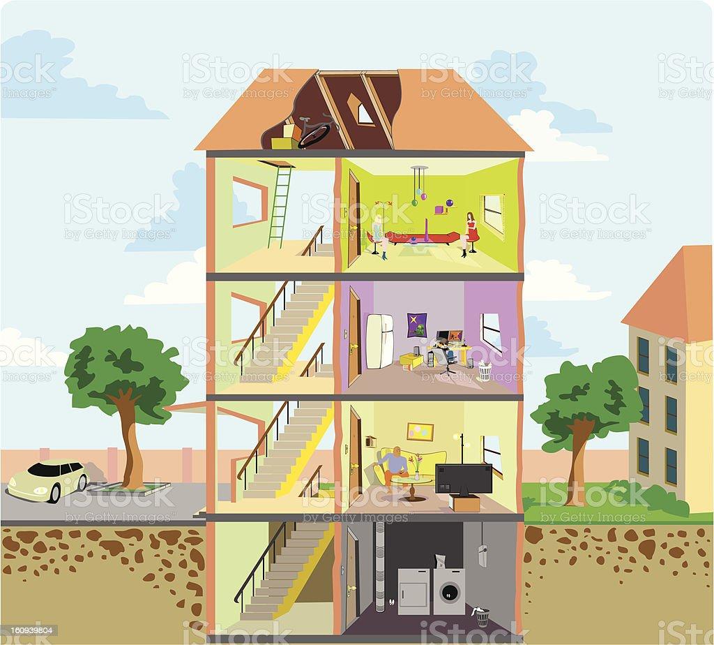 condo units vector art illustration