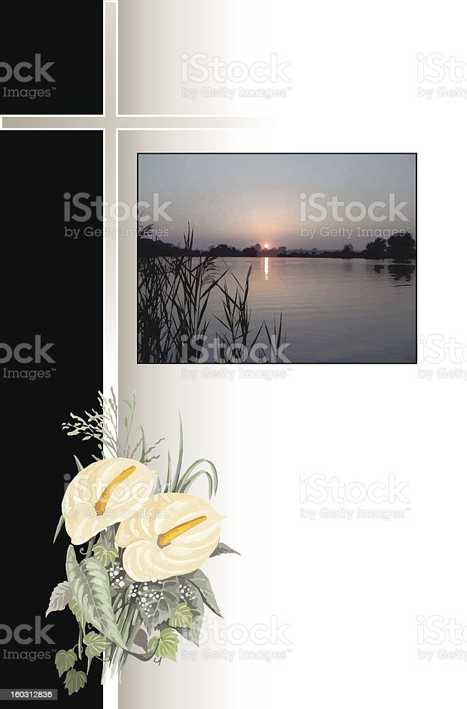 Condolence with picture royalty-free stock vector art