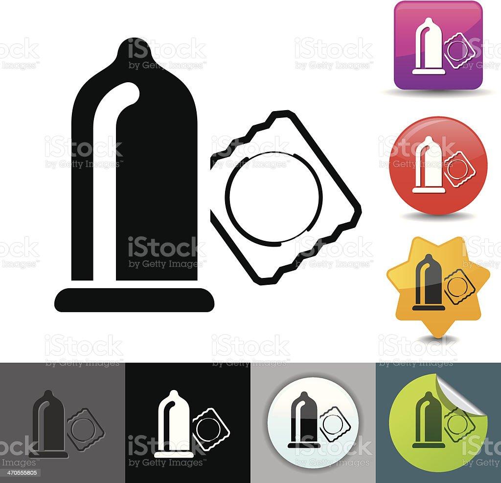 Condom icon | solicosi series vector art illustration