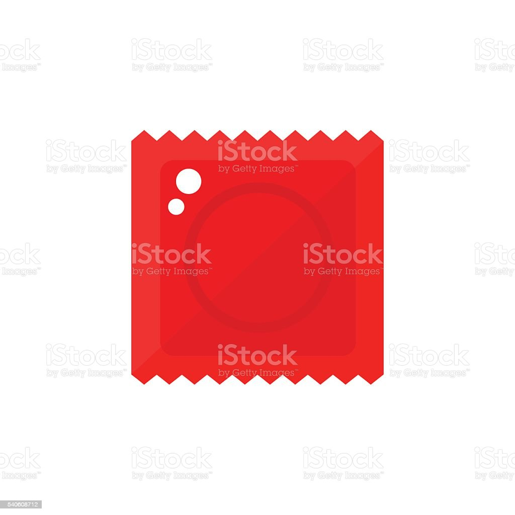 Condom pack isolated icon on white background. vector art illustration