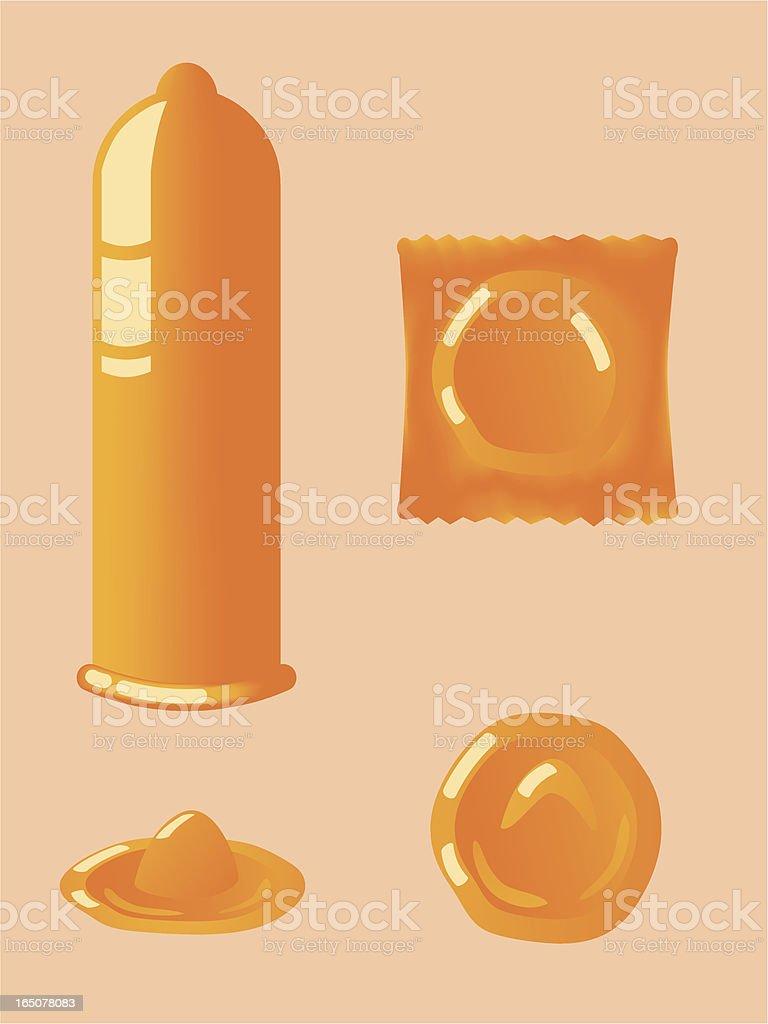 Condom Set royalty-free stock vector art